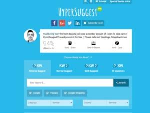 Keyword Ideen finden mit Hypersuggest